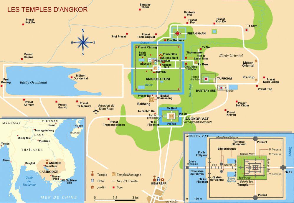 carte angkor wat cambodge