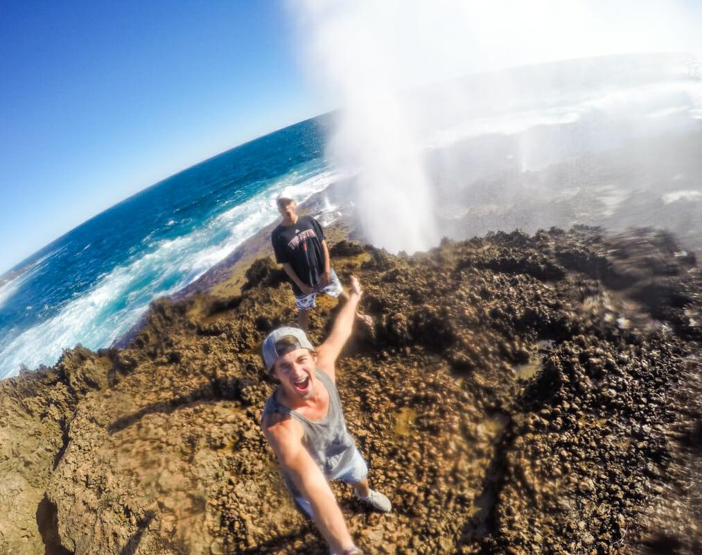 cote ouest australie blowholes