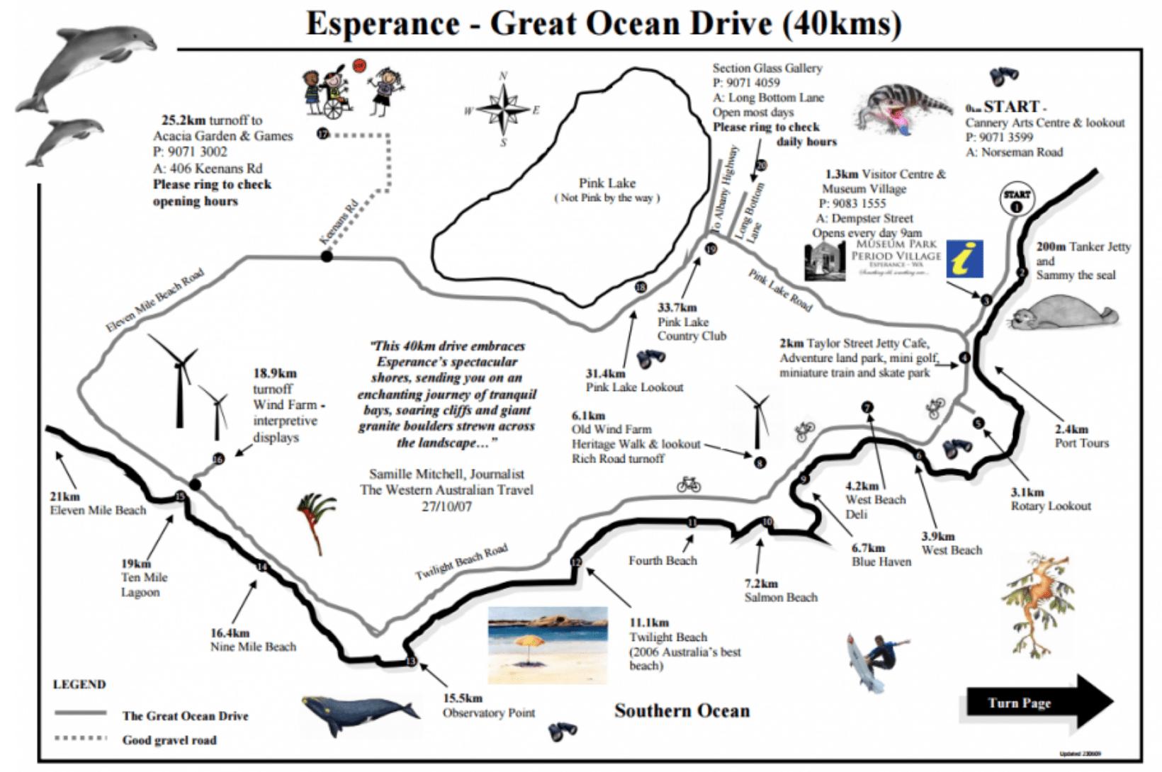 Great Ocean Drive Esperance sud australie