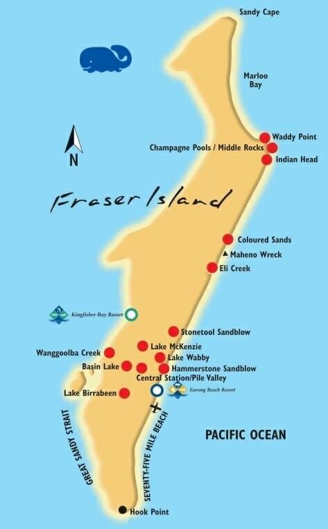 carte fraser island trip