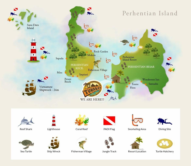 iles perhantian malaisie carte
