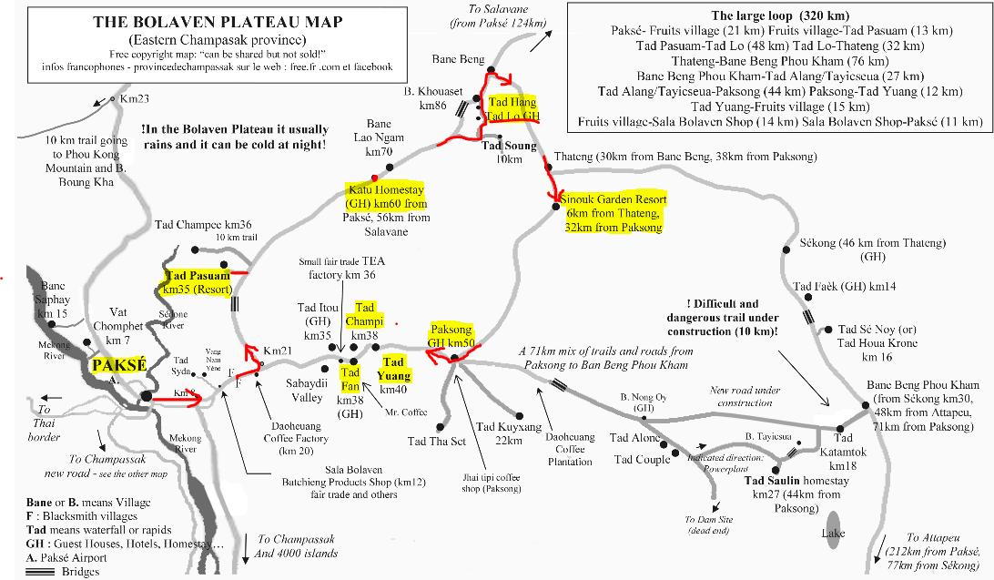 plateau des bolovens blog laos