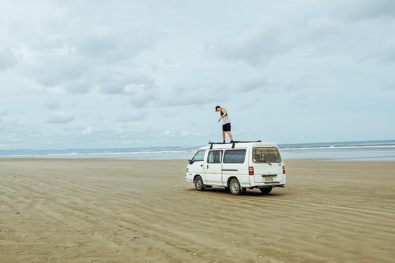 acheter un van en nouvelle zelande plage