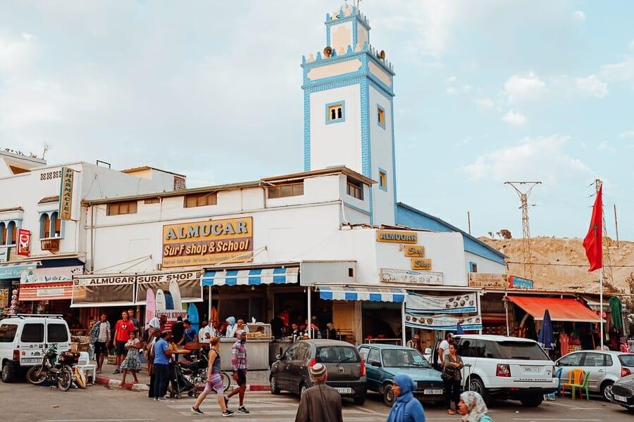 taghazout maroc centre ville