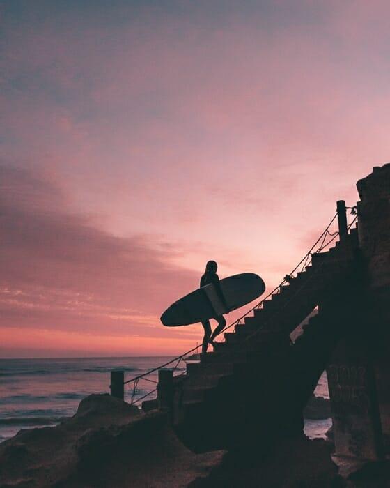sunset plage imsouane maroc