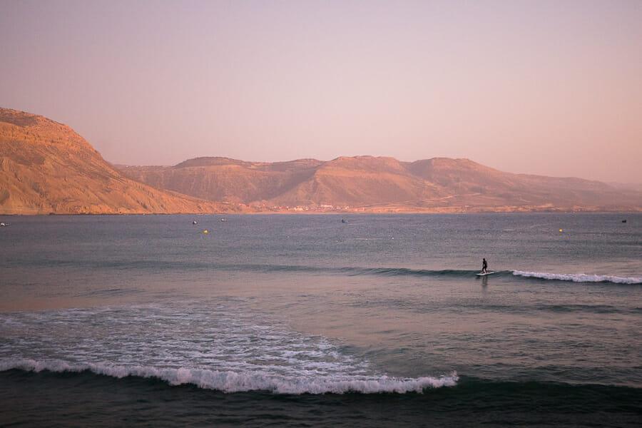 surfing imsouane maroc plage